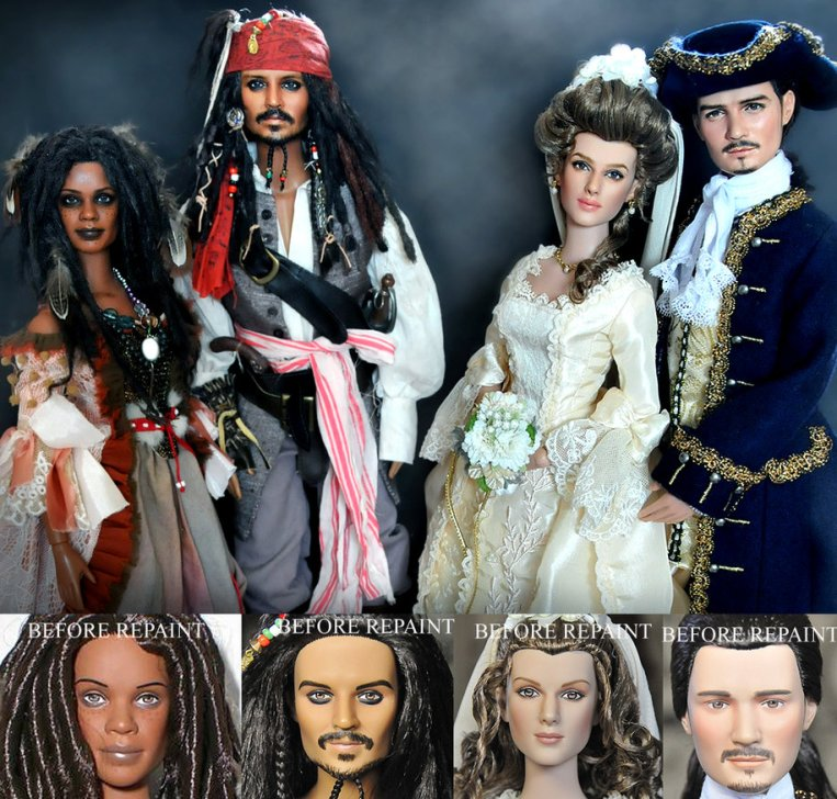Pirates_of_the_Caribbean_dolls_by_noeling